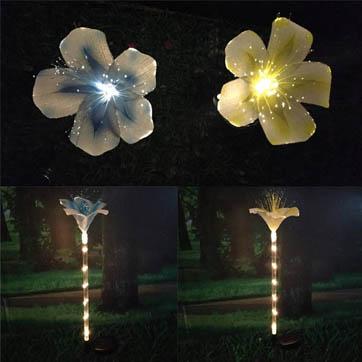 fiberoptisk blomst dekorasjon lys