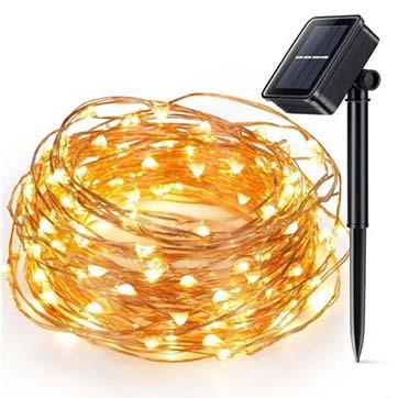 solenergi kobber wire streng lys